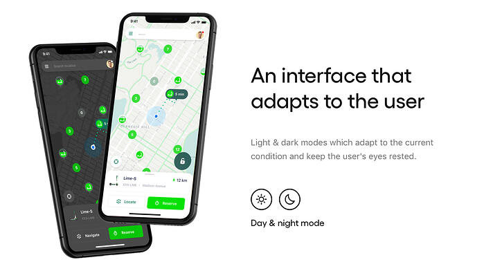 Lime escooters concept interface