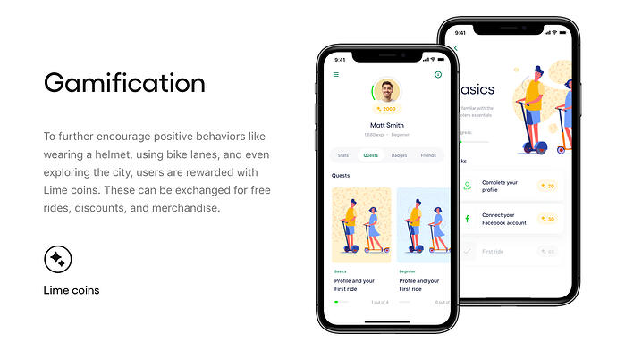 Lime escooters concept gamification