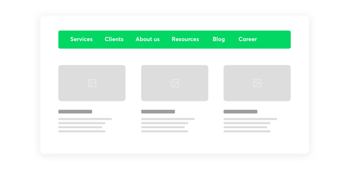 the use of colors on a website