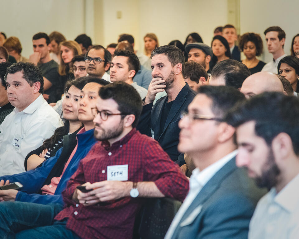 The audience of Disruption Forum event