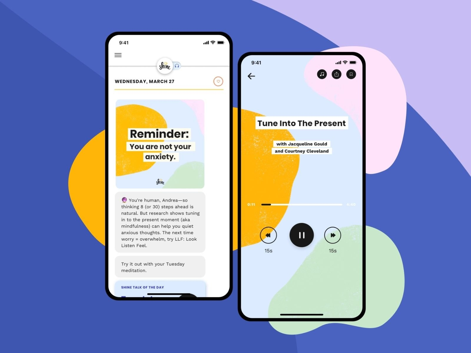 Shine: Self-care app for US client