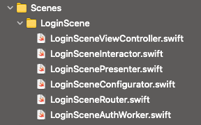clean swift files structure