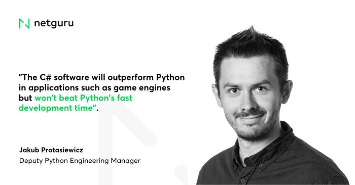 C sharp vs Python development time