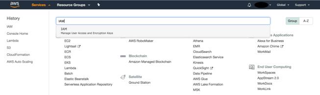 AWS console - Services-1