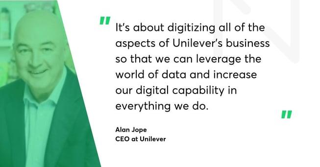 Alan Jope Unilever quote