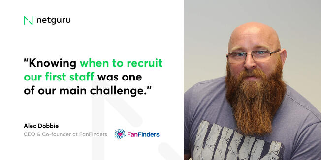 Alec Dobbie from FanFinders - recruitment