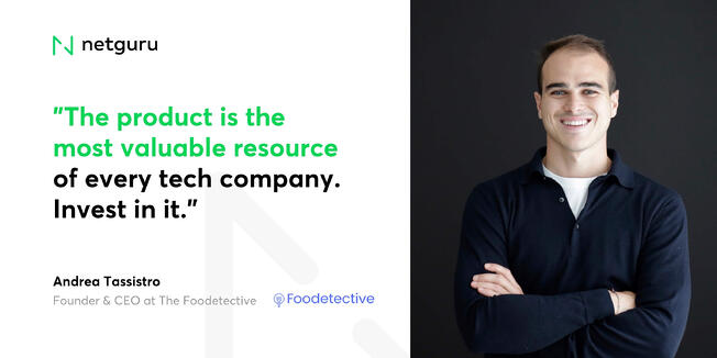 Andrea Tassistro from Foodetective - the product