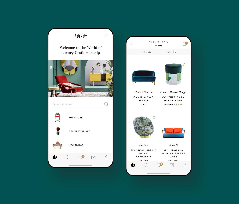 Artemest Mobile Product Development