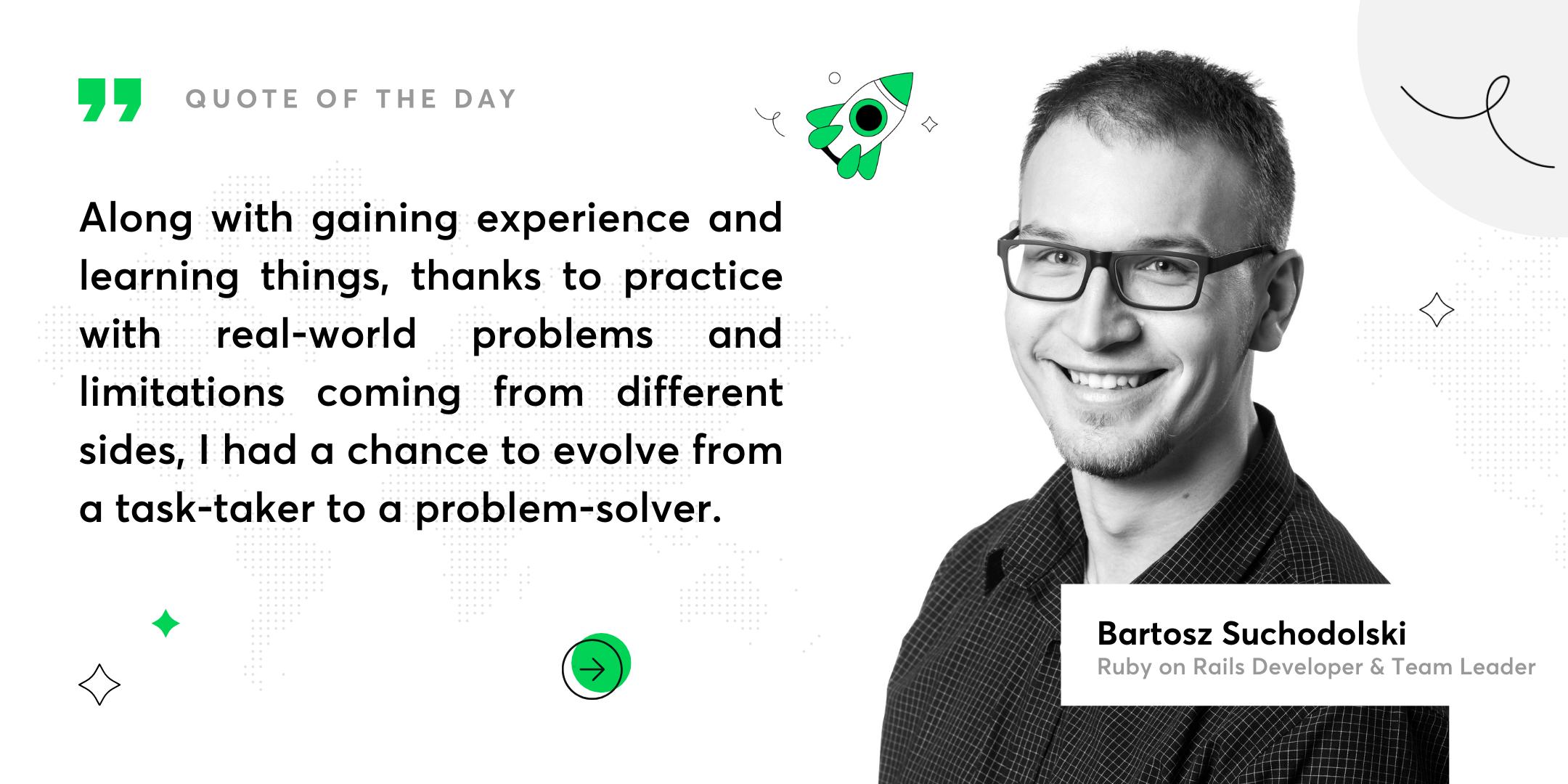 Bartek Success Story (RoR) Quote3a