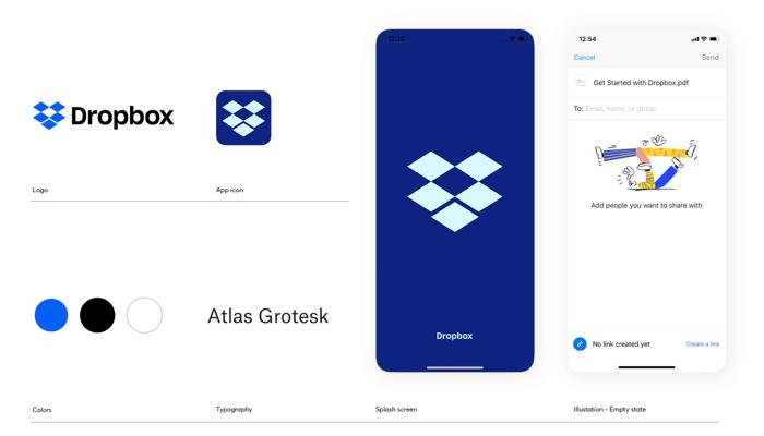 Dropbox branding example