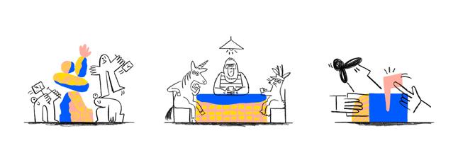 Dropbox illustrations example