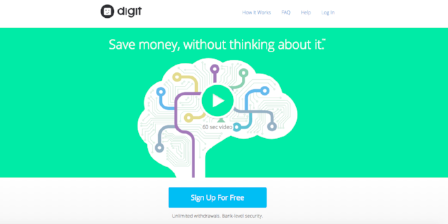 Digit saving app