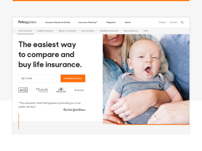 policygenius website