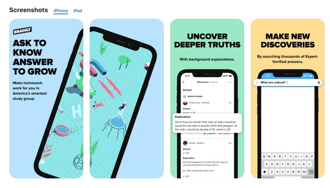 Brainly mobile app