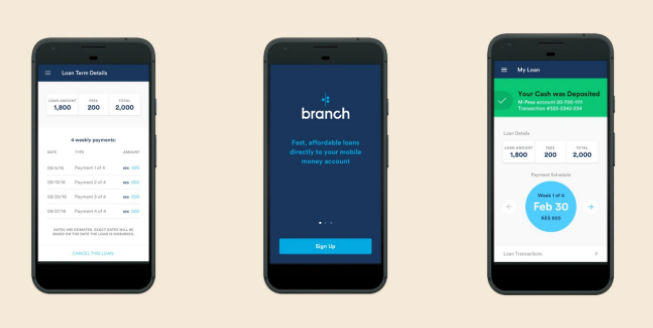 Branch app interfaces