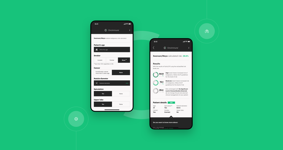 Oncimmune view of app
