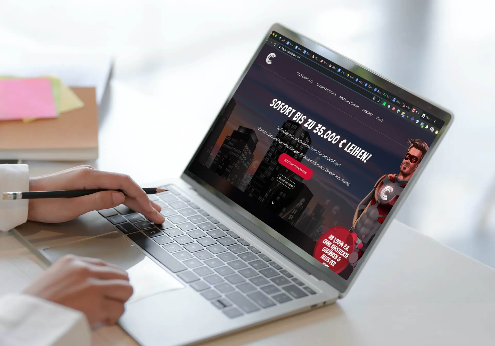 Cashcape on a laptop