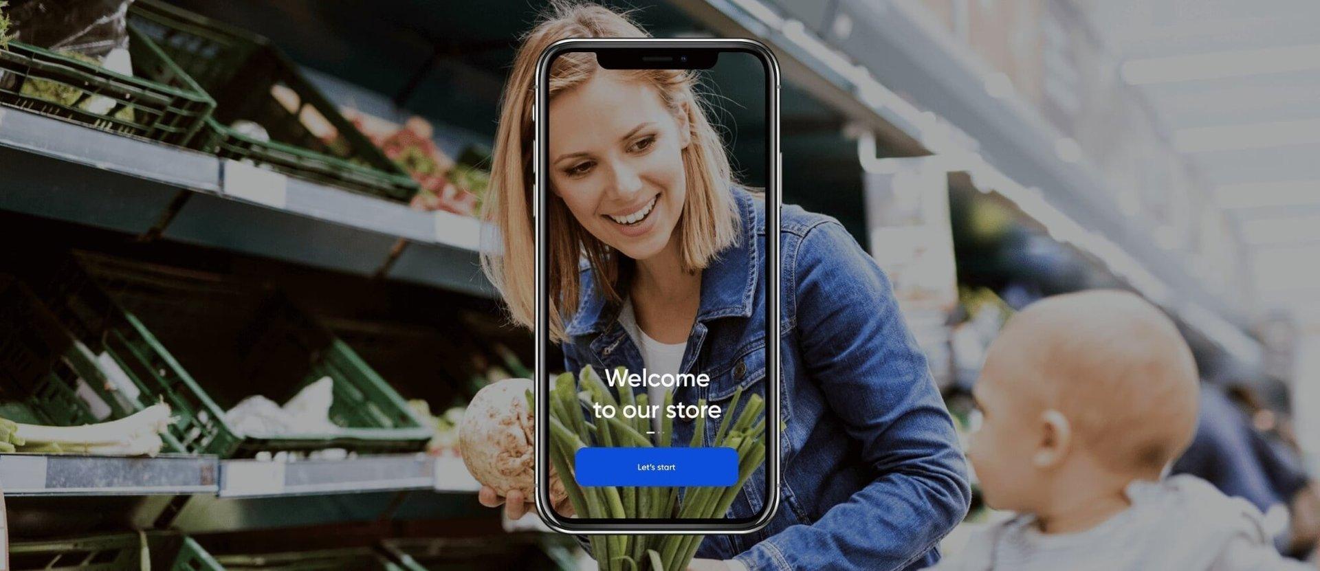 Woman doing grocery shopping seen through a phone-1 (1)