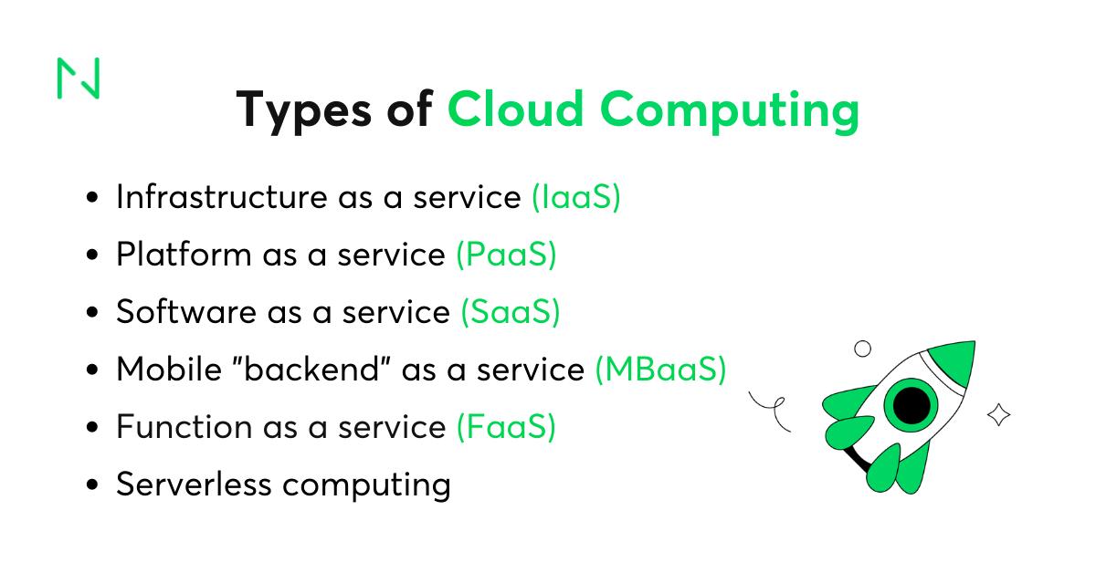 Cloud services types