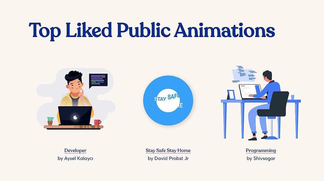 Design of the issue – animations by LottieFiles