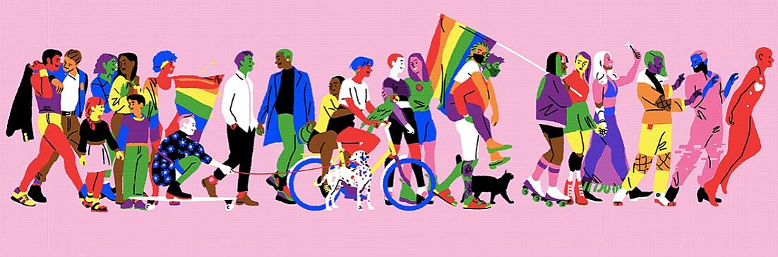 Design of the issue 12 –Illustration for Adobe Germany and the very first virtual #prideparade of CSD-Munich