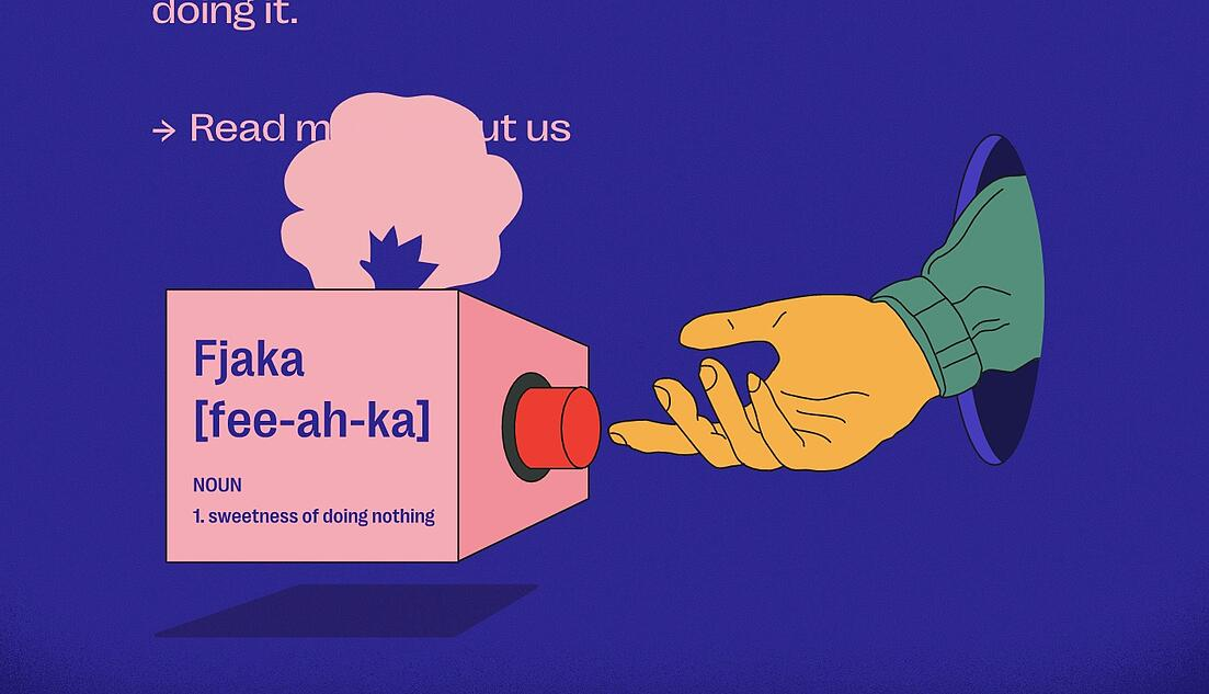 Design of the issue – Fjaka website