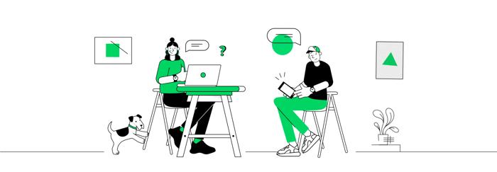 illustration people working