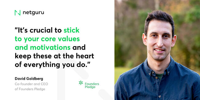 David Goldberg from Founders Pledge - Motivations