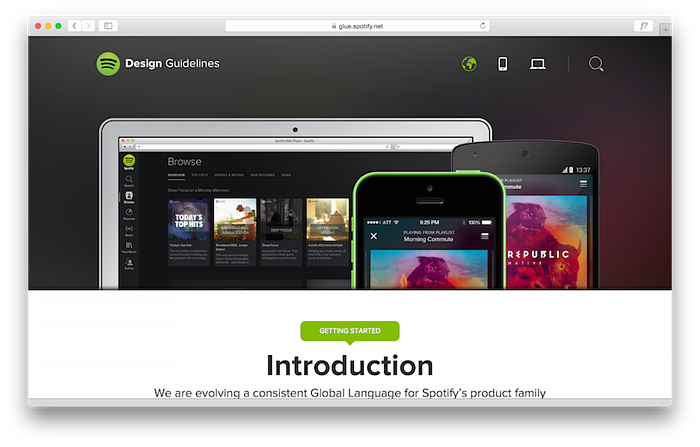 Spotify website