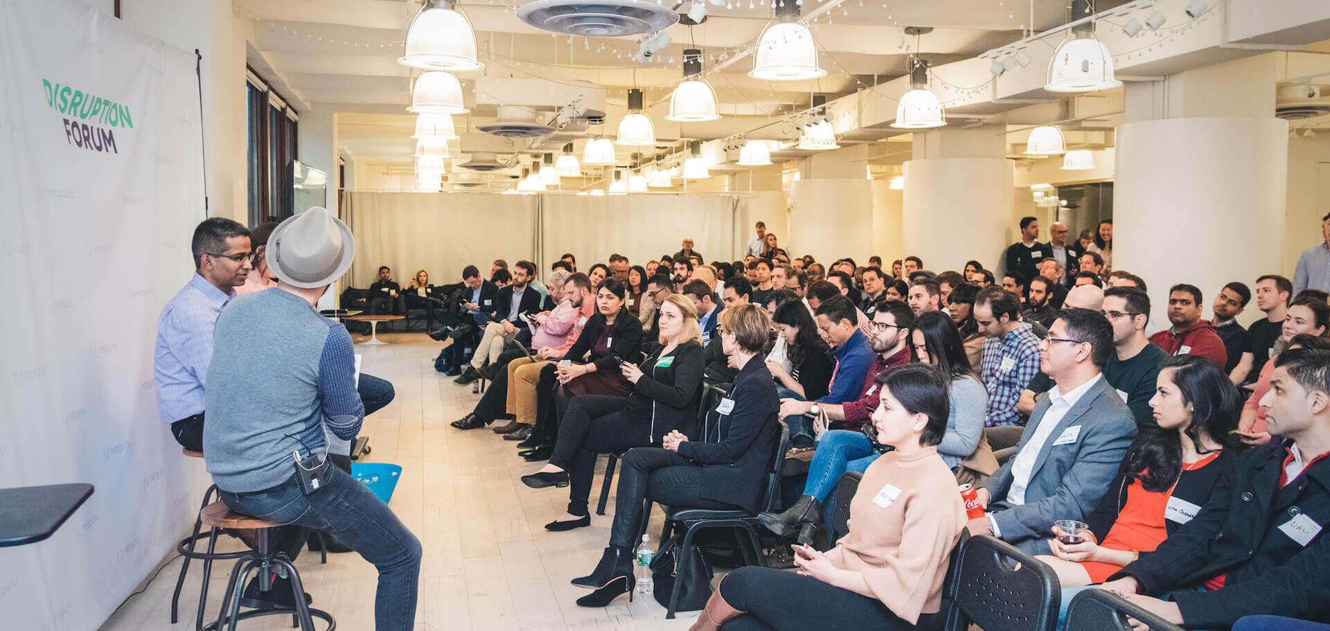 Disruption Forum NY 2019 panel