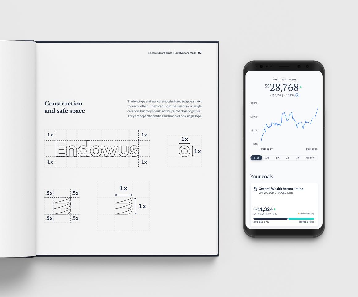 Endowus font and app