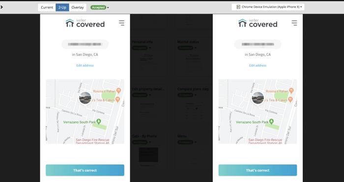 Example Screener comparison – iPhone X, design 20