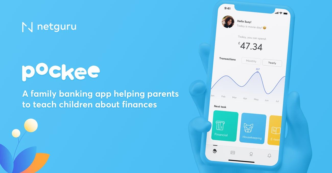 Pockee banking app kids parents