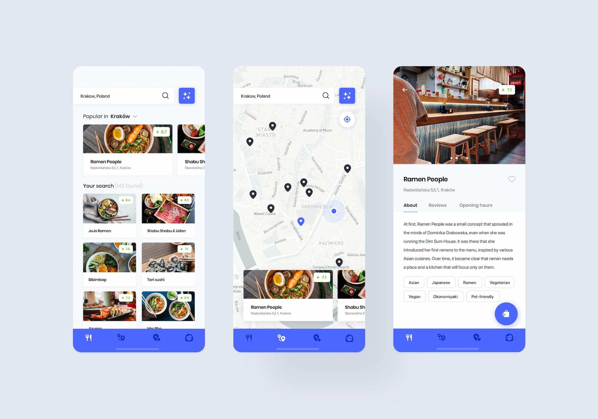Foodetective mobile application: restaurant search