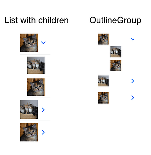 SwiftUI List with children OutlineGroup