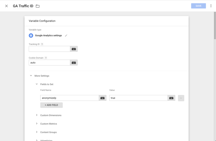 Google Tag Manager - IP anonymization