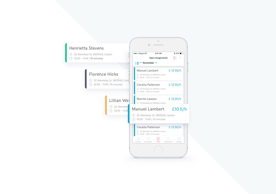 Helpr: social care - Health App developed by Netguru