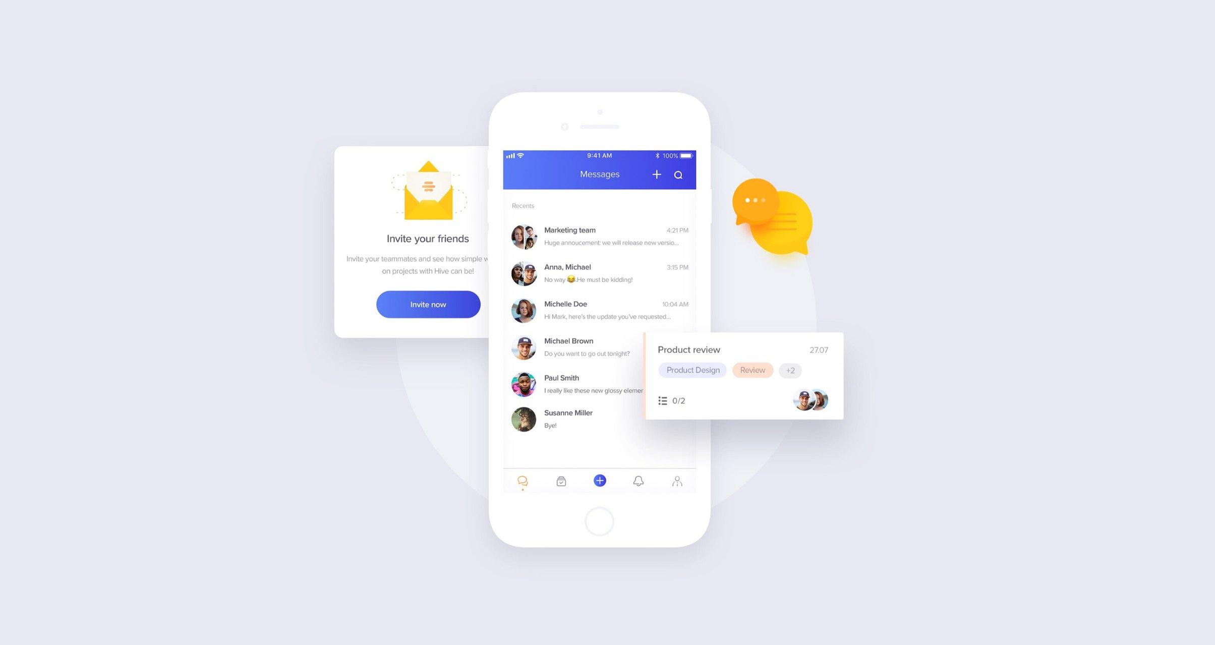 Hive - React Native app developed by Netguru company