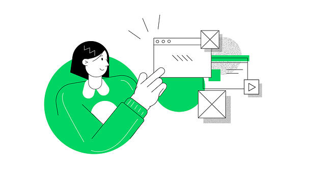 UX Review step by step illustration