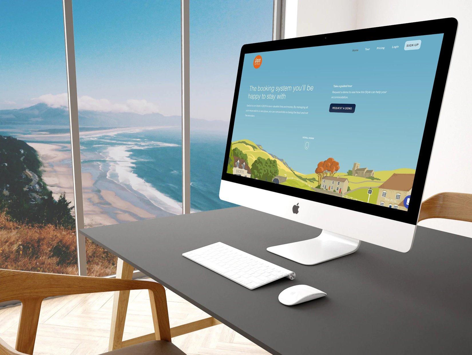 InnStyle website displayed on an iMac