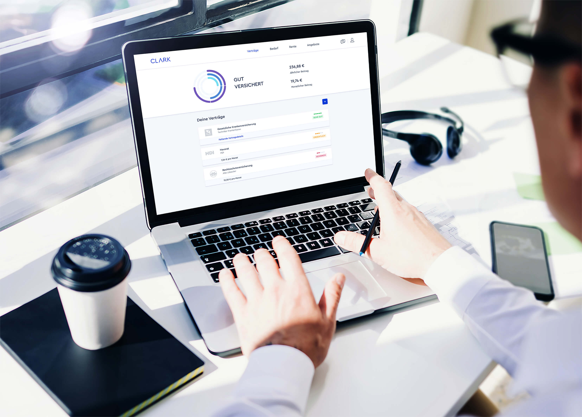 Clark app on a laptops desktop