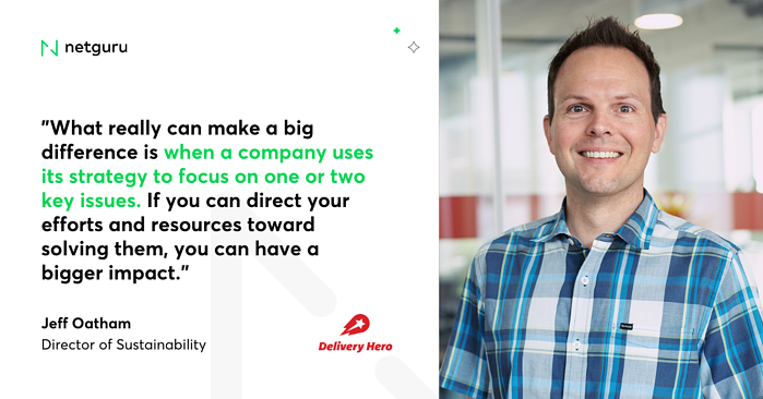 Jeff Oatham quote Delivery Hero
