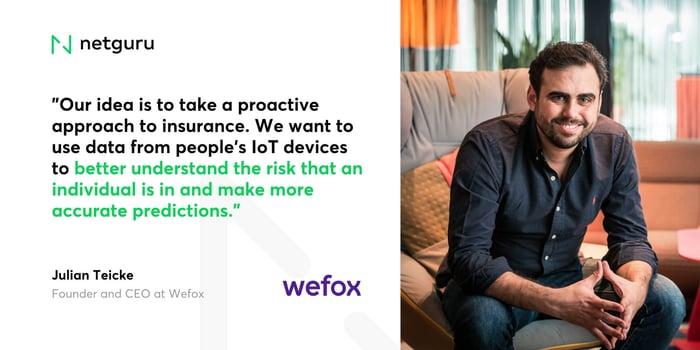 Julian Teicke Wefox Quote