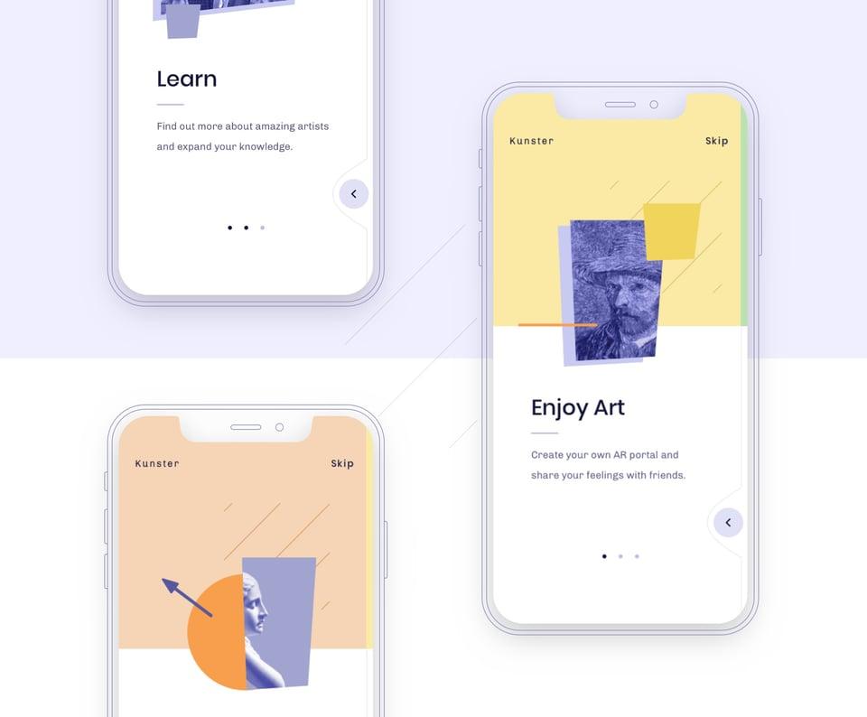 Kunster - AR mobile app by Netguru