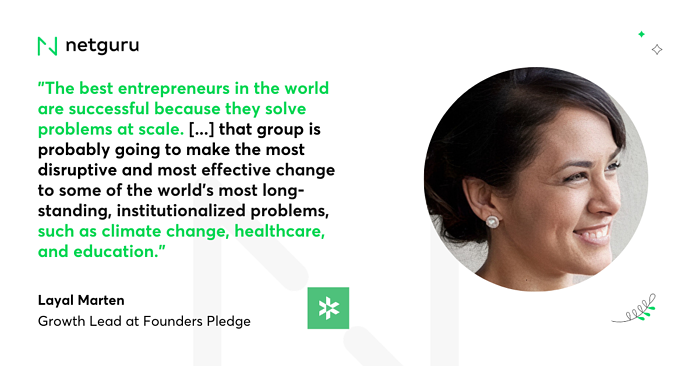 Layal Marten quote Founders Pledge