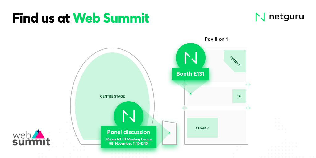 Mapa Netguru at Web Summit