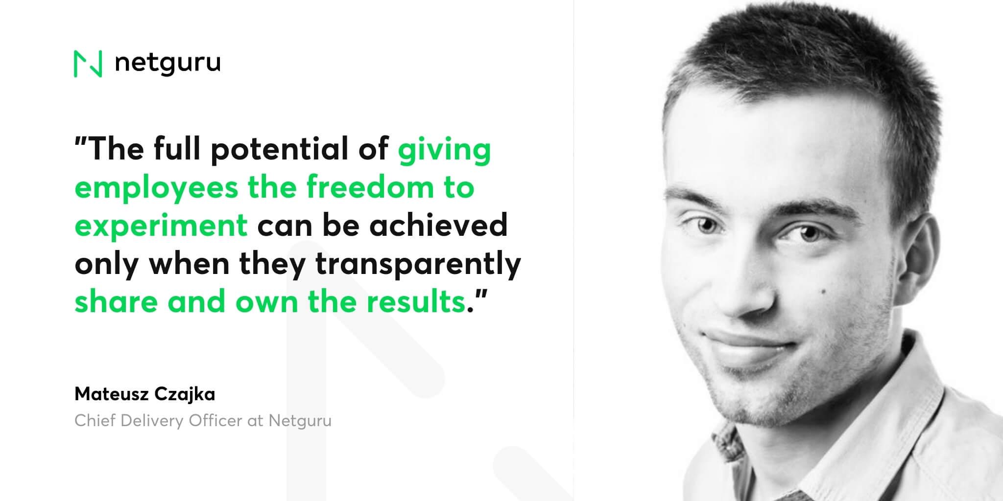 Matt Czajka on freedom to experiment (1)