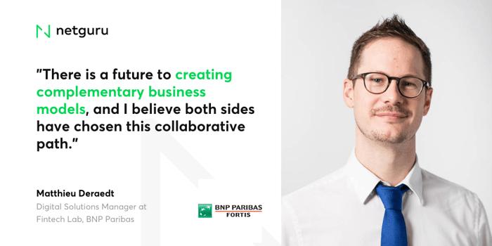 Matthieu Deraedt, Digital Solutions Manager at Fintech Lab, BNP Paribas