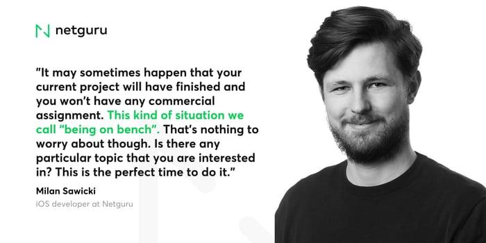 Quote of iOS Developer at Netguru