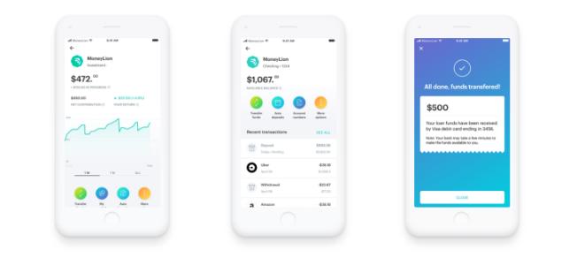 MoneyLion app interfaces